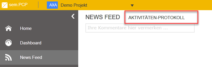 Project-Opened-NewsFeed-ActivityTrace